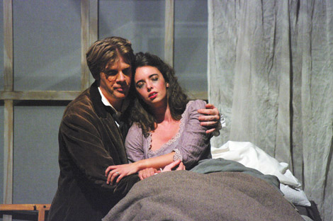 Soprano Ruth Kerr as Mimi in La Boheme